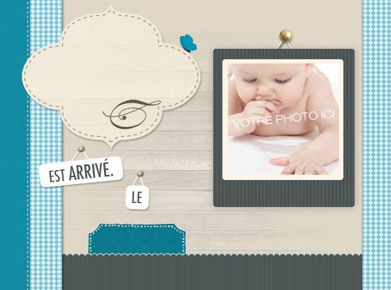 Faire-part de naissance personnalisables