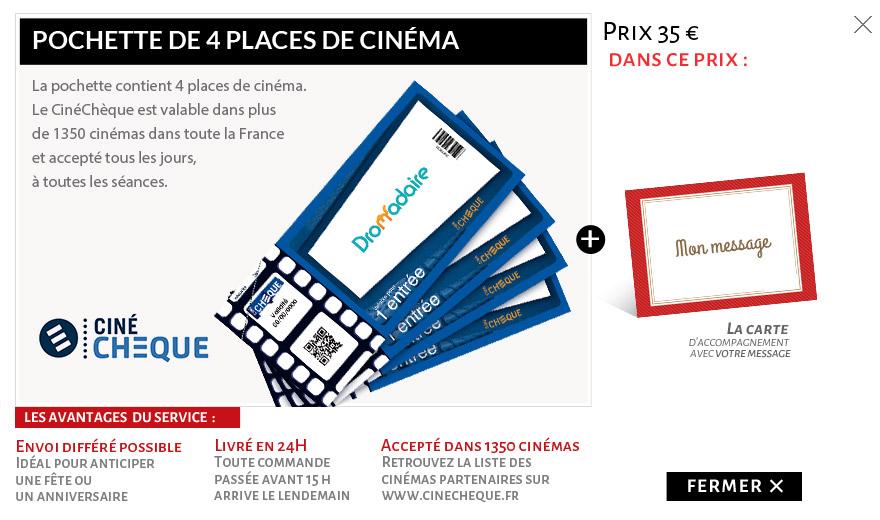 4 places de cinéma