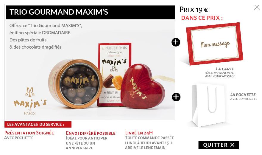 Trio gourmand Maxim's