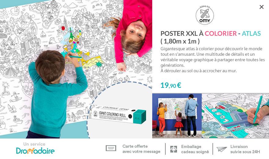 Poster XXL Atlas à colorier