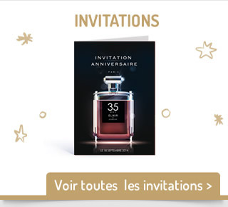 les cartes d'invitation