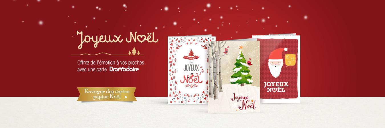 Cartes papier de Noël