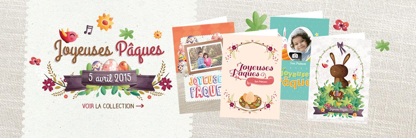 Cartes imprimées pour Pâques