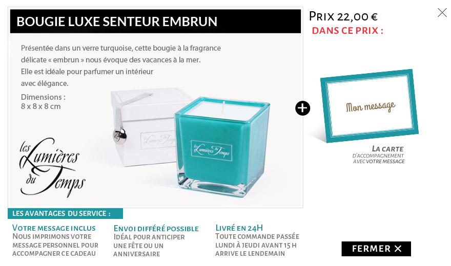 """Bougie parfumée """"embrun"""""""
