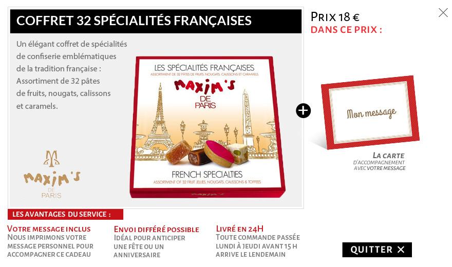 Spécialités Françaises Maxim's