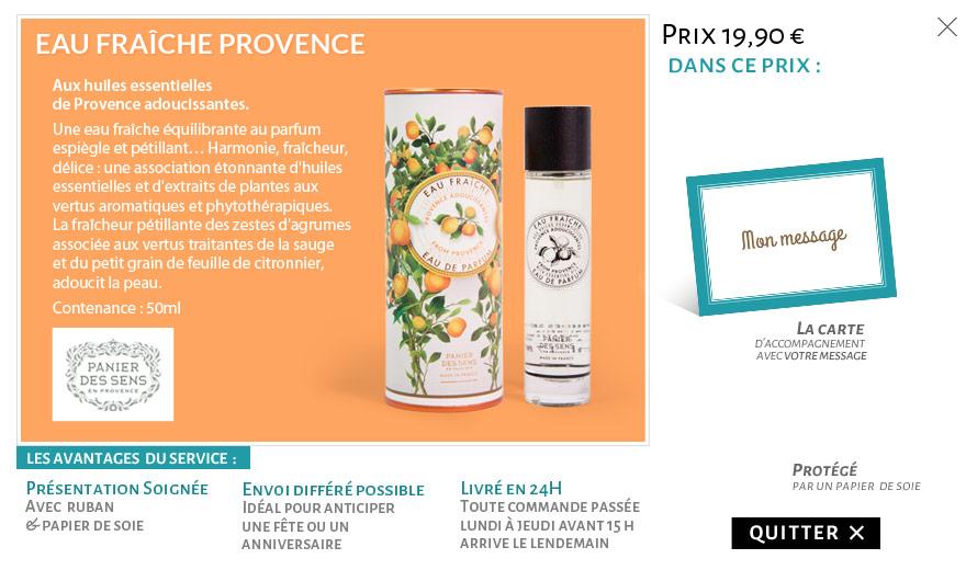 Eau fraîche Provence