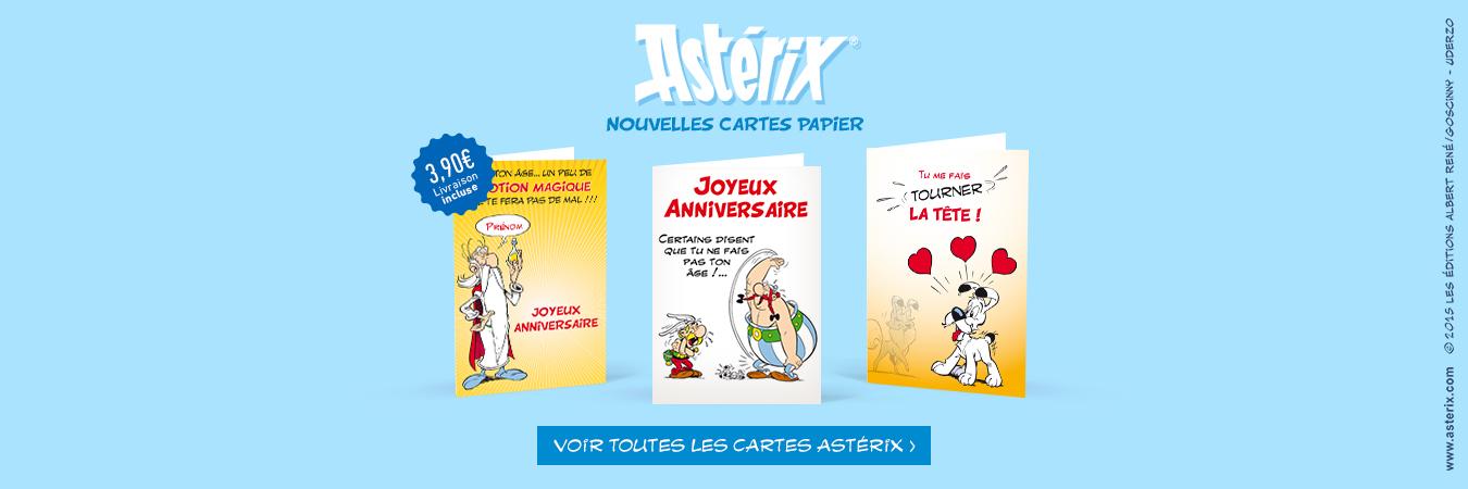 Cartes papier Astérix et Obélix