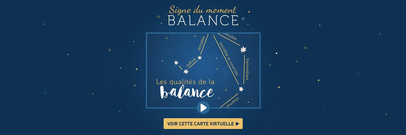 Carte signe astrologique Balance