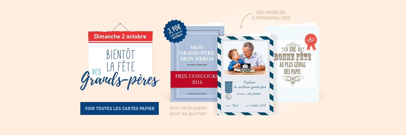 Cartes papier fête des grands-pères