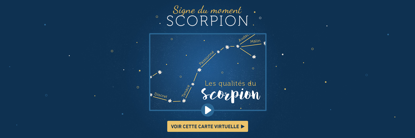 Carte signe astrologique Scorpion