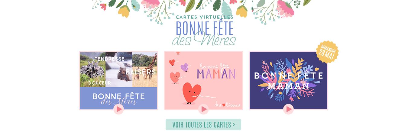 Cartes virtuelles de la fête des mères