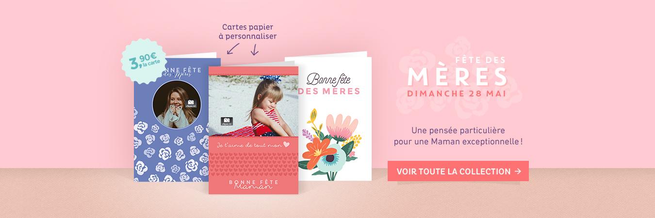 Les cartes papier de la fête des mères