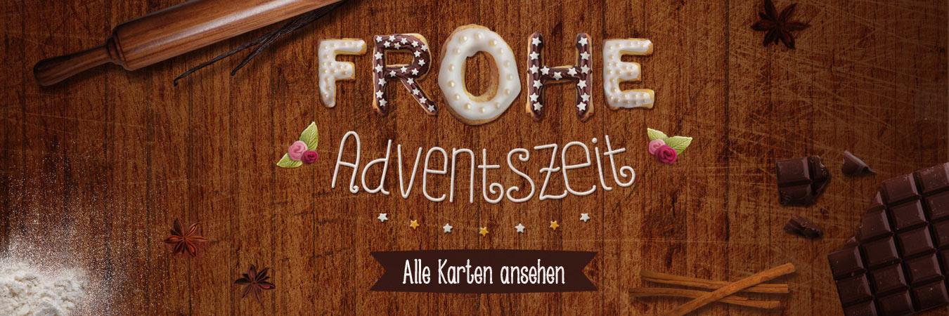 Eine schöne Adventszeit! Hübsche Adventskarten online verschicken