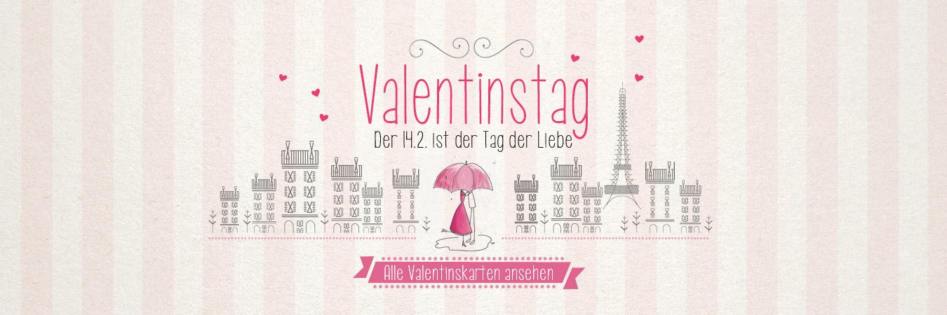 Am 14.2. ist Valentinstag!