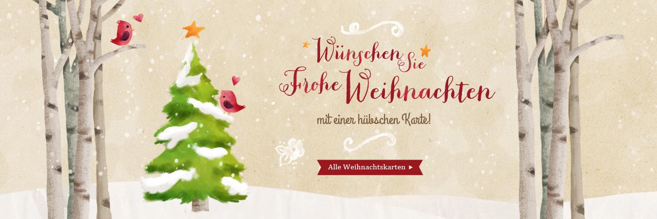 Frohe Weihnachten! Schöne Weihnachtskarten online verschicken