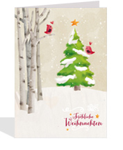 gedruckte Weihnachtskarte