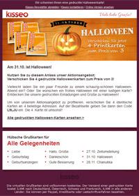 gedruckte Halloweenkarten