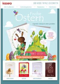 gedruckte Osterkarten