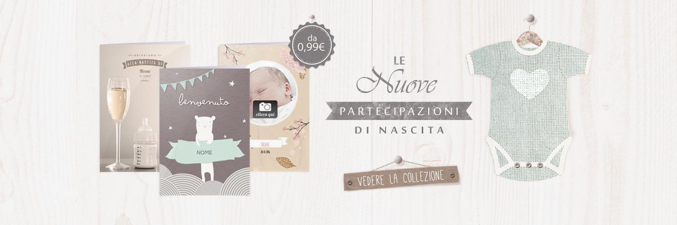 Annuncia una nascita con una bella cartolina stampata
