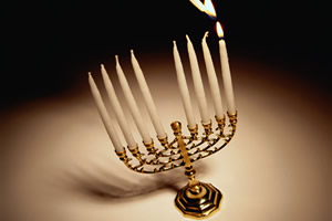 Light the menorah