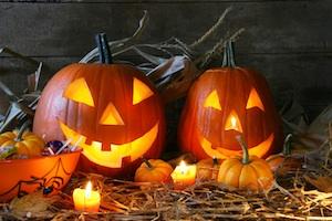 Kürbisse als Halloween-Deko