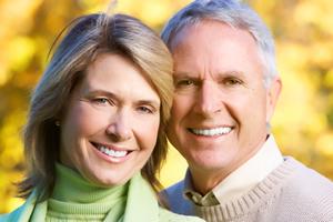 couple senior, beau sourire