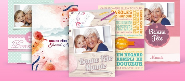 Cartes papier pour la fête des grand-mères