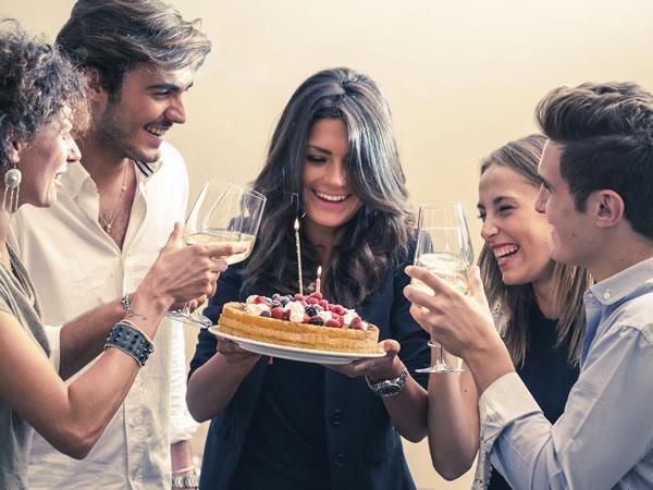 fête d'anniversaire entre amis