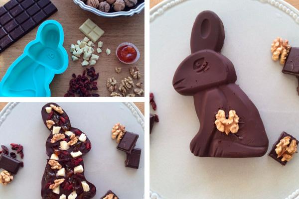 recette de lapin de Pâques en chocolat