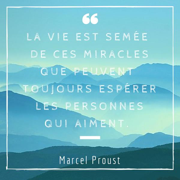 La vie est sem�e de ces miracles que peuvent toujours esp�rer les personnes qui aiment.