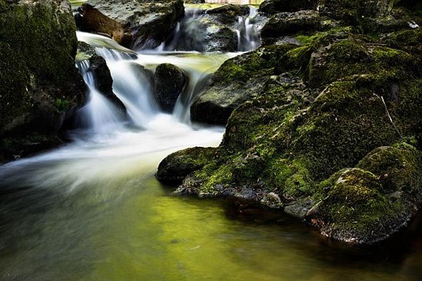 Rivière, beau paysage brumeux d'Irlande