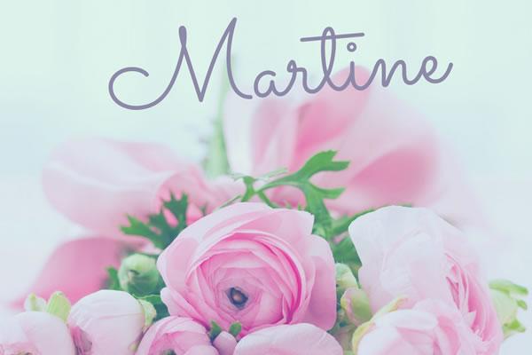 Bonne fête Martine