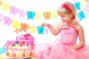 Geburtstag eines Mädchens