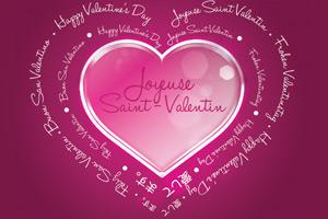 Joyeuse Saint Valentin dans toutes les langues