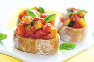 Bruschetta, tartines gourmandes